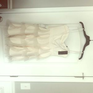 BCBG beautiful white dress!
